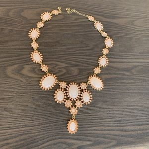 Gold-Tone Crystal & Stone Statement Necklace NWOT